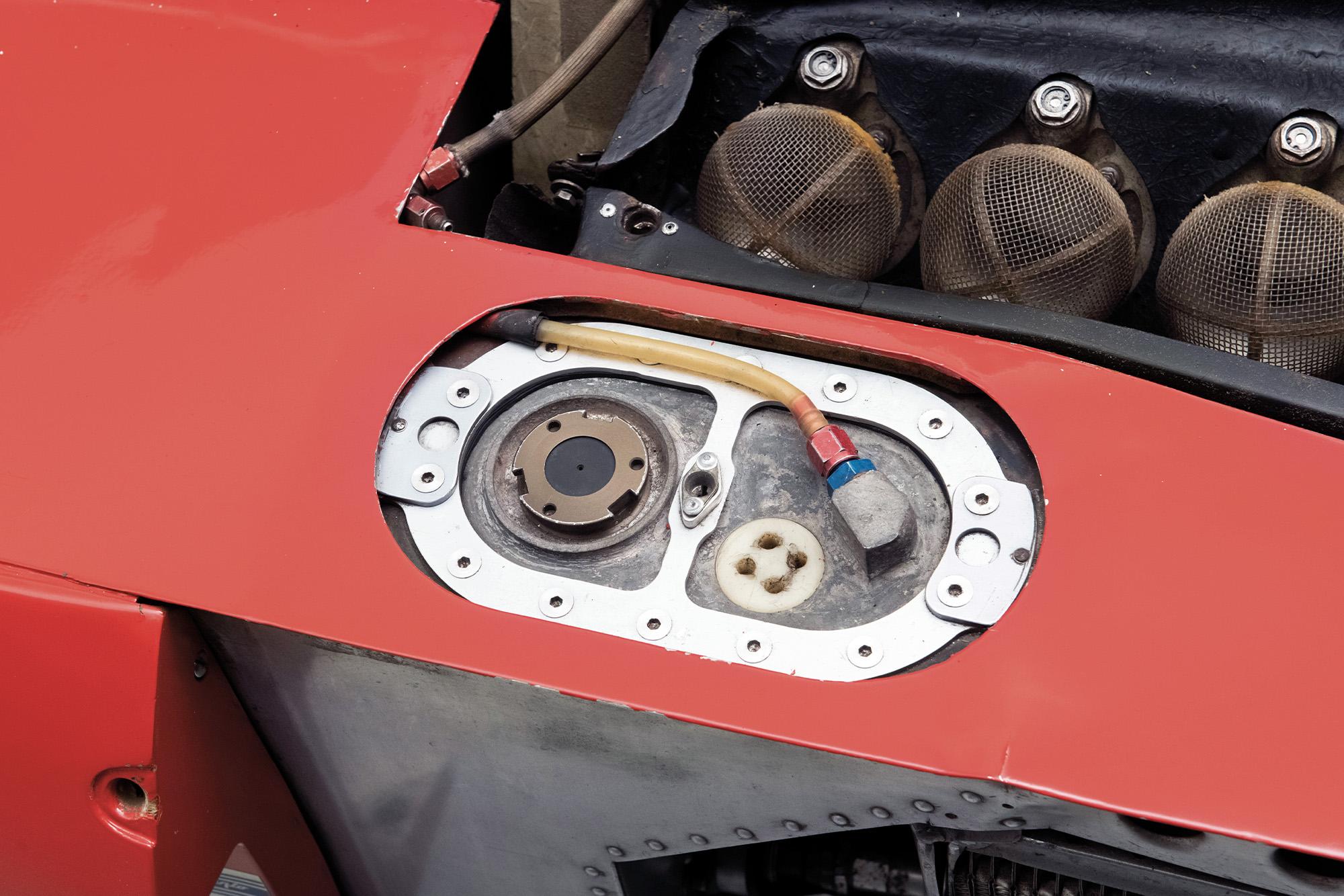 Detail shot of the 1975 Ferrari 312T