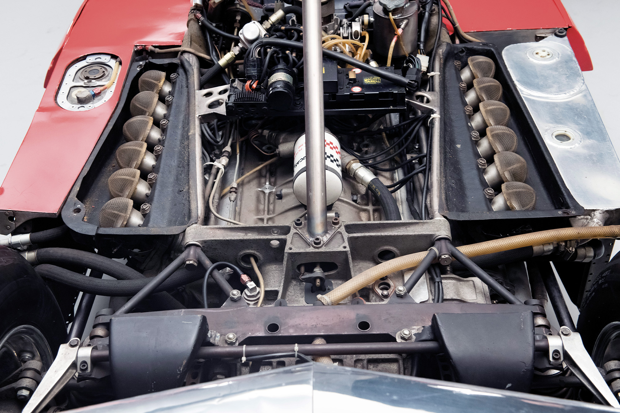 Engine of the 1975 Ferrari 312T