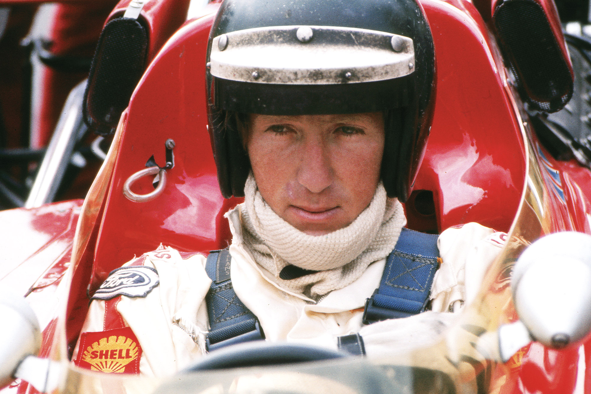 Jochen Rindt in the cockpit of his Lotus at the 1975 British Grand Prix