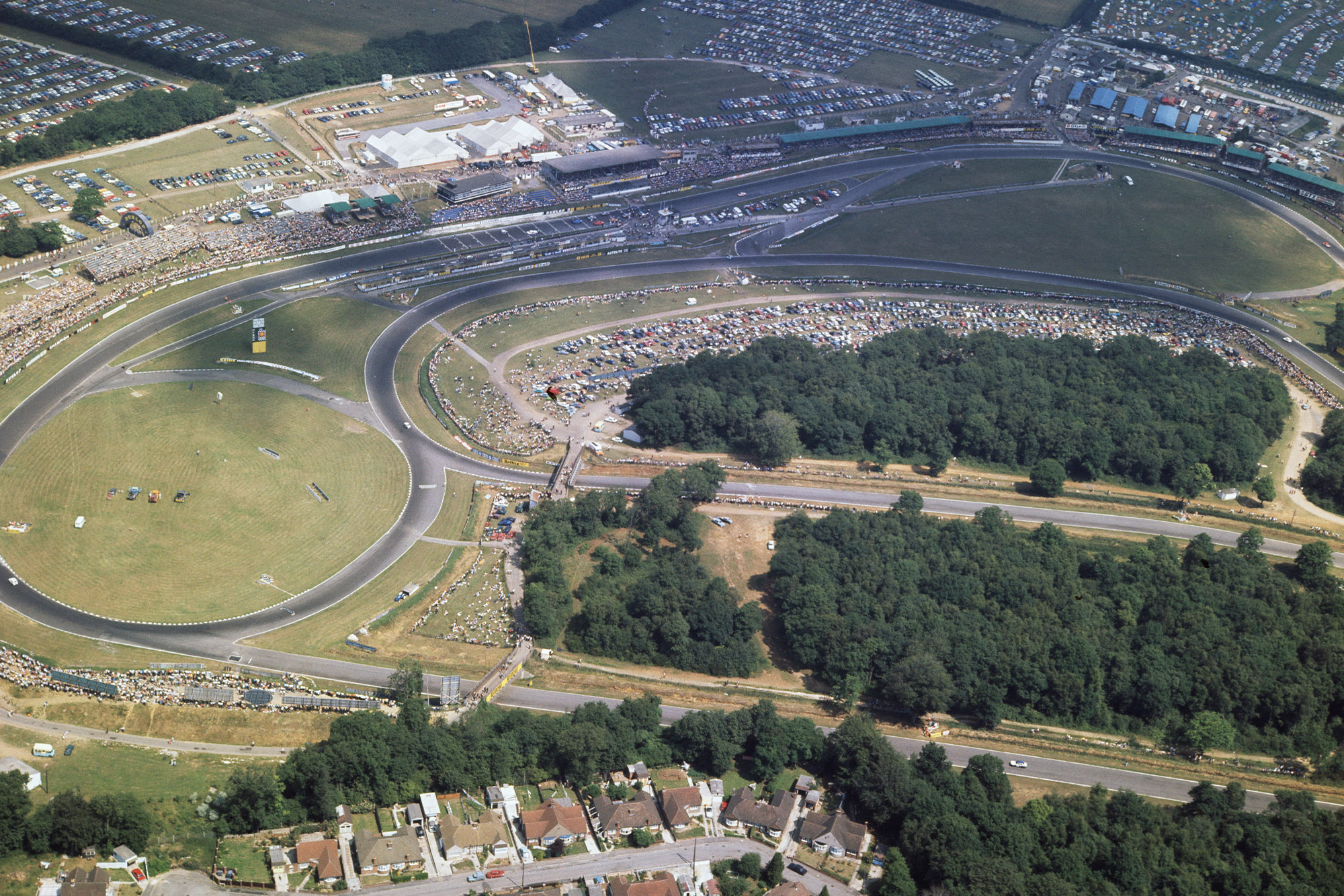 Overhead view of Brands Hatch at the 1970 F1 British Grand Prix