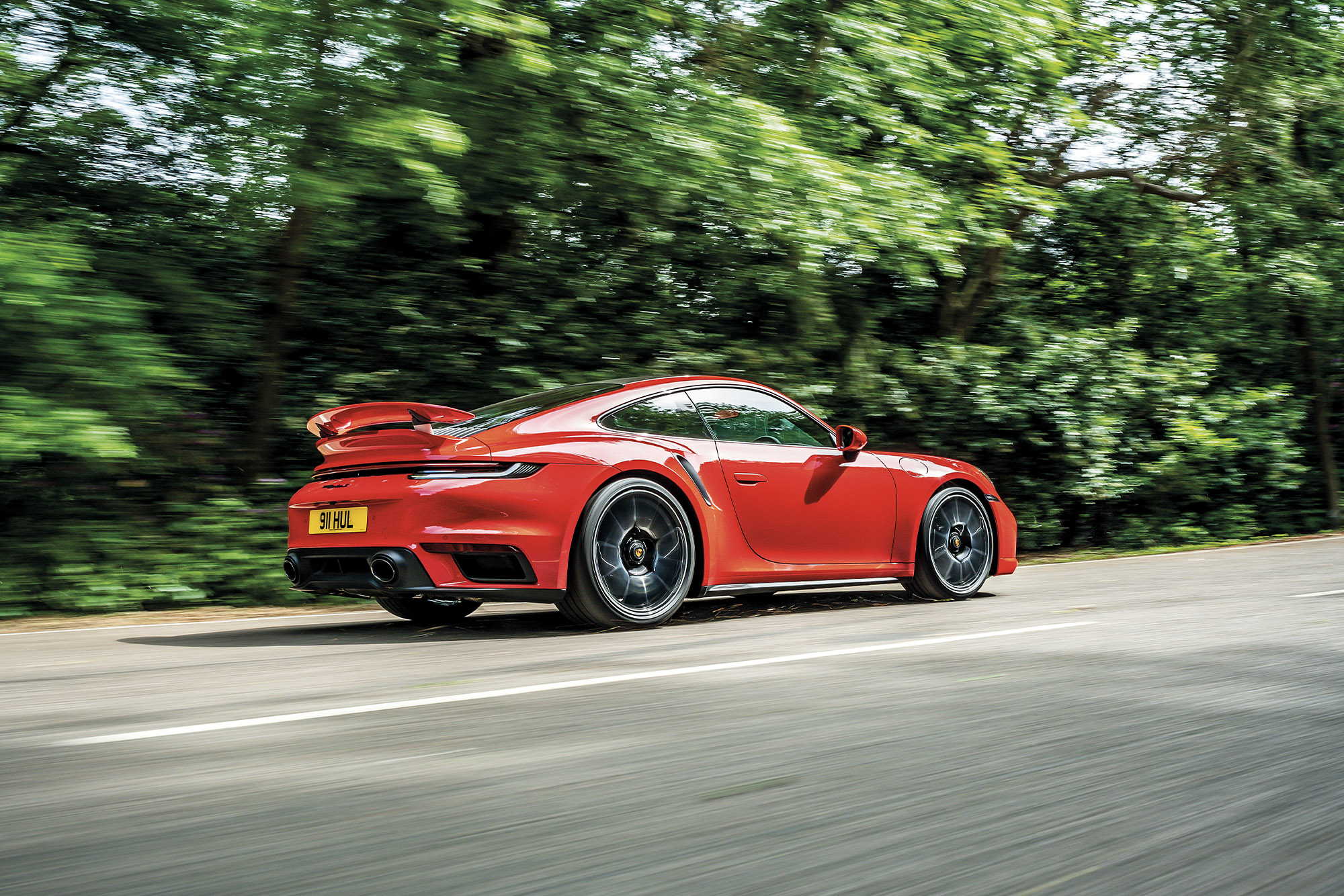 2020 Porsche 911 Turbo S rear view