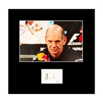 Product image for Adrian Newey – Red Bull   photo print display   signed Adrian Newey