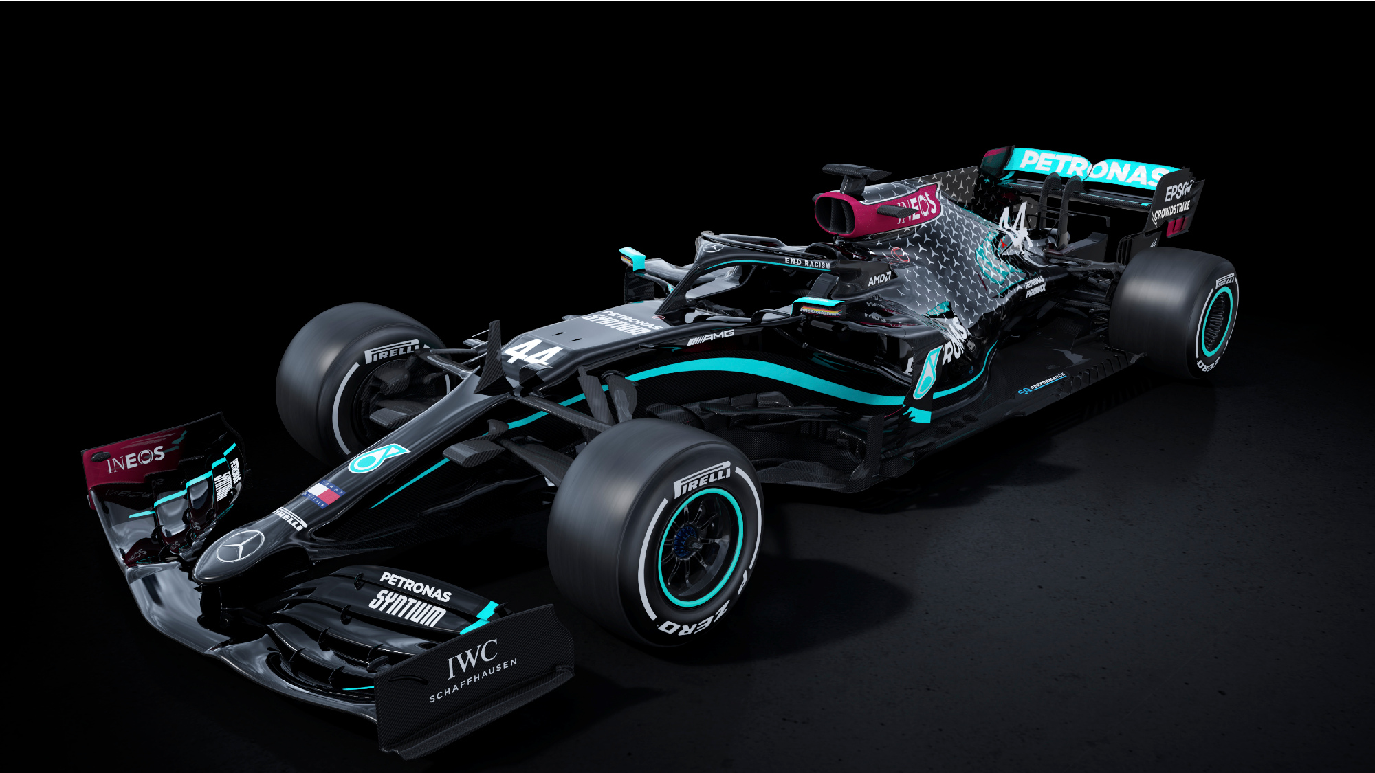 Mercedes launches black livery for 2020 F1 season