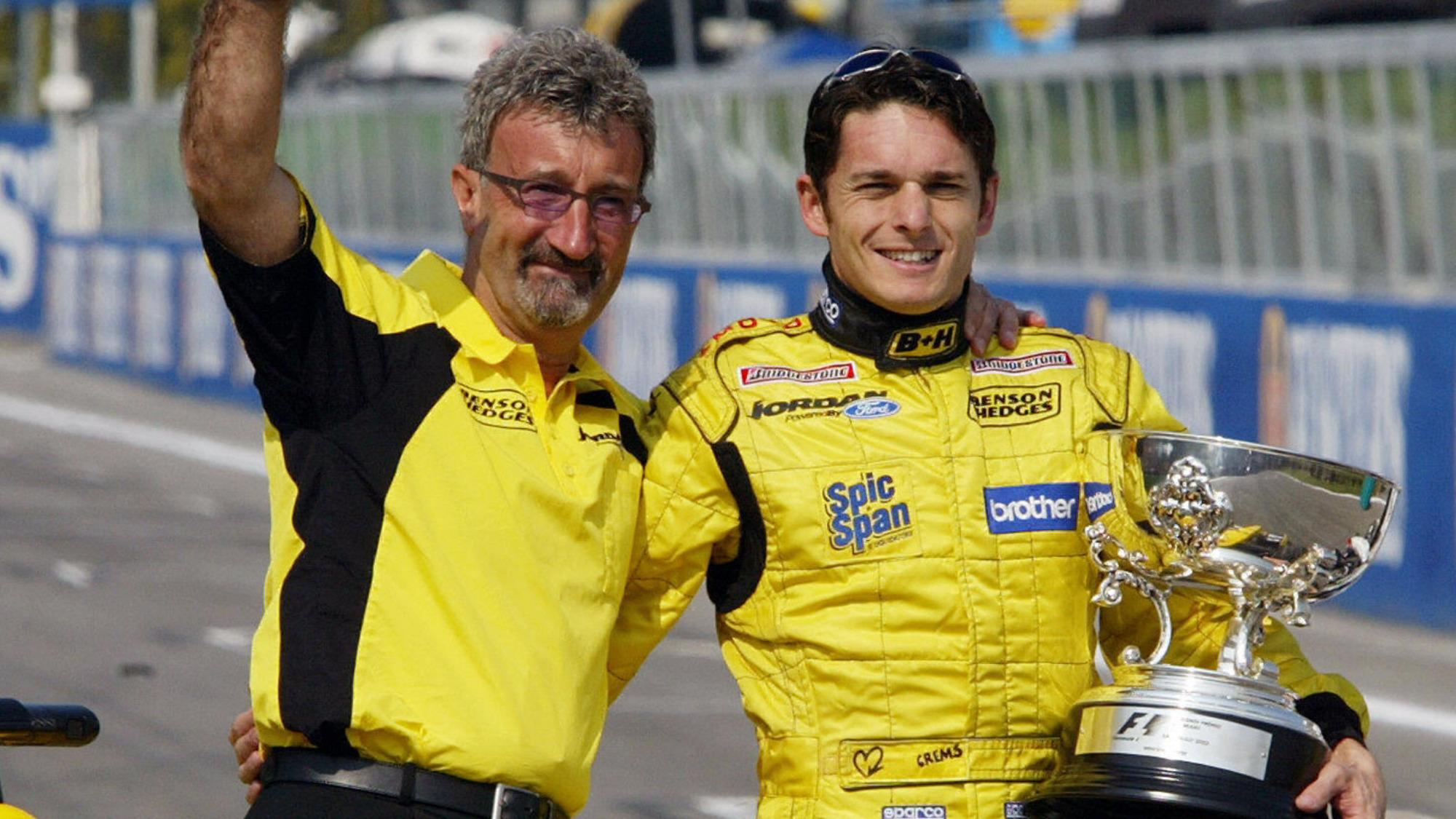Giancarlo Fisichella, Eddie Jordan, 2003 Imola