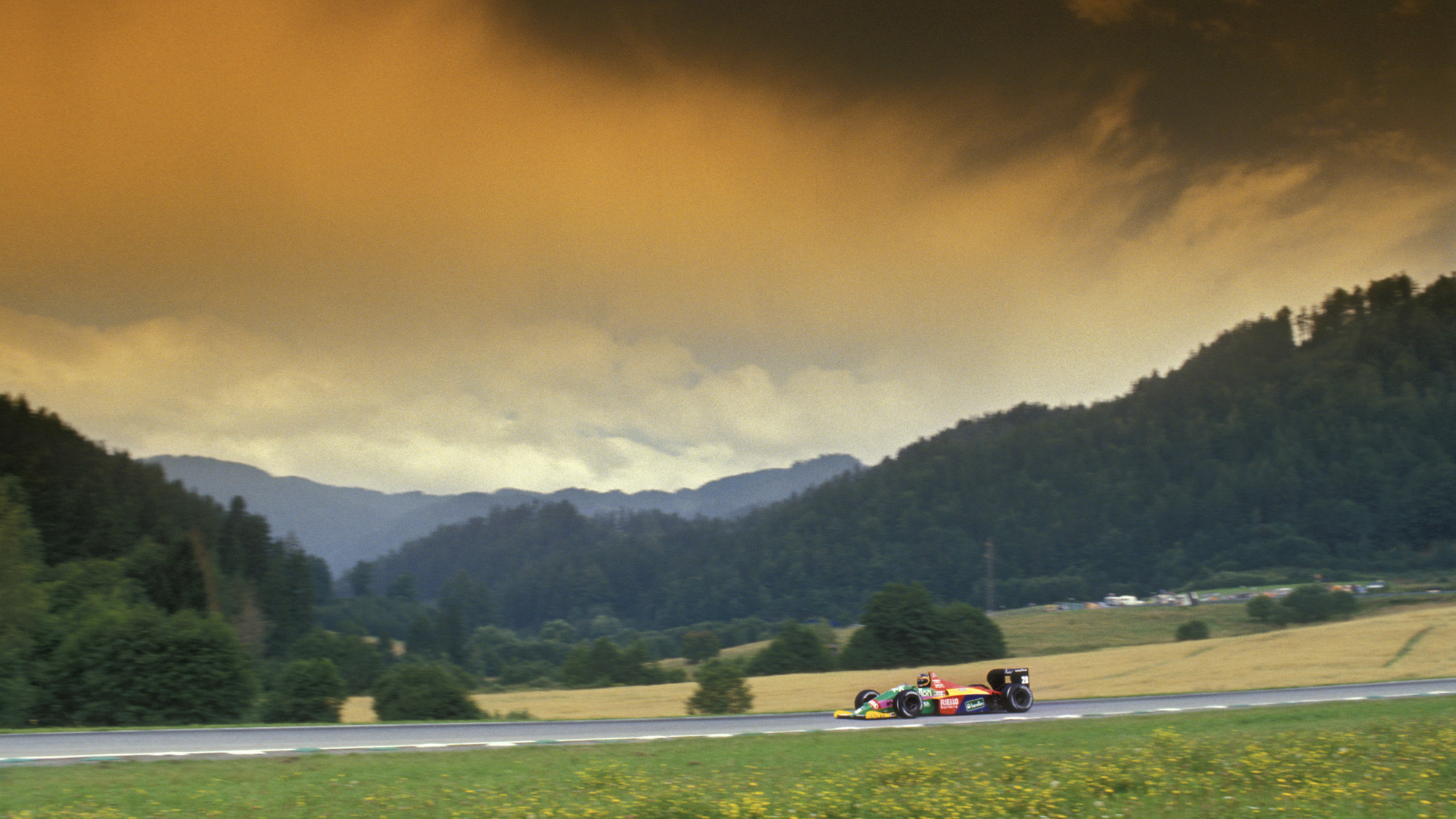 Thierry Boutsen at the Osterreichring for the 1987 F1 Austrian Grand Prix