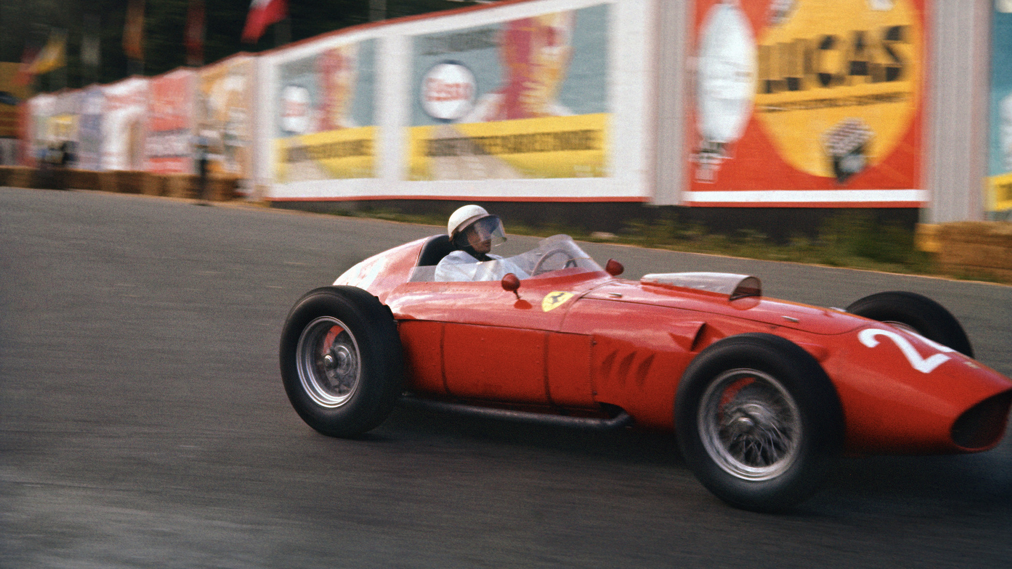 Phil Hill in the 1960 Belgian Grand Prix at Spa