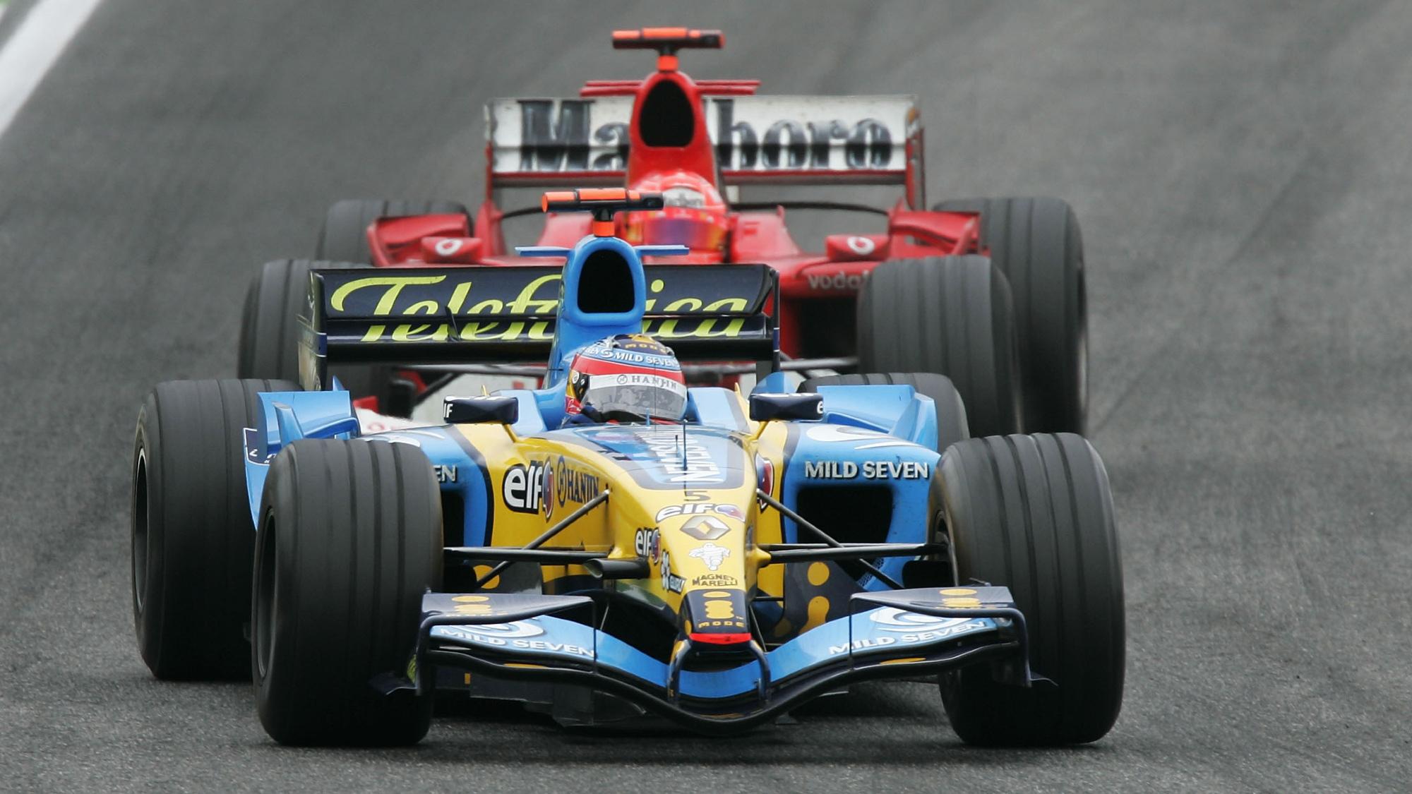 Fernando Alonso, Michael Schumacher 2005 San Marino GP