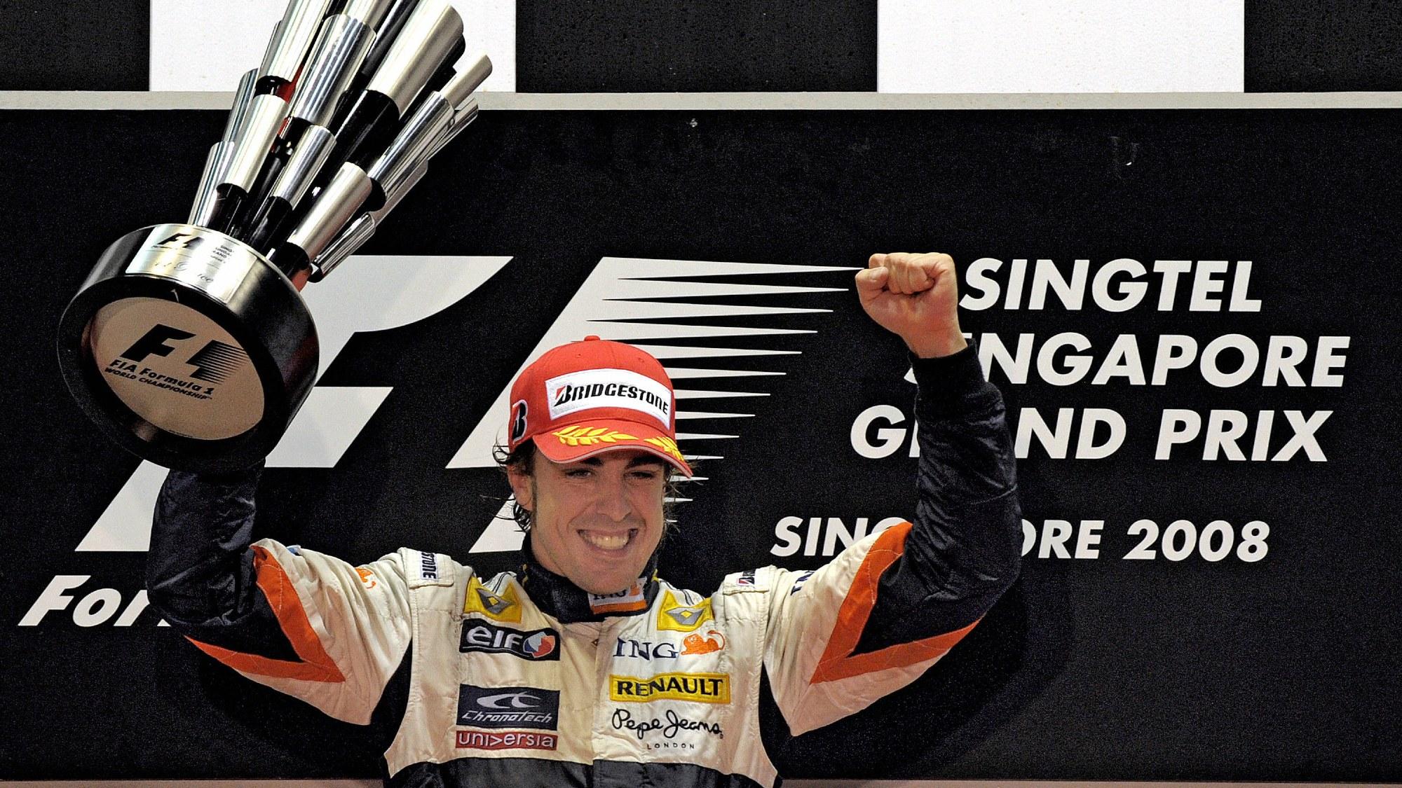 Fernando Alonso, 2008 Singapore GP