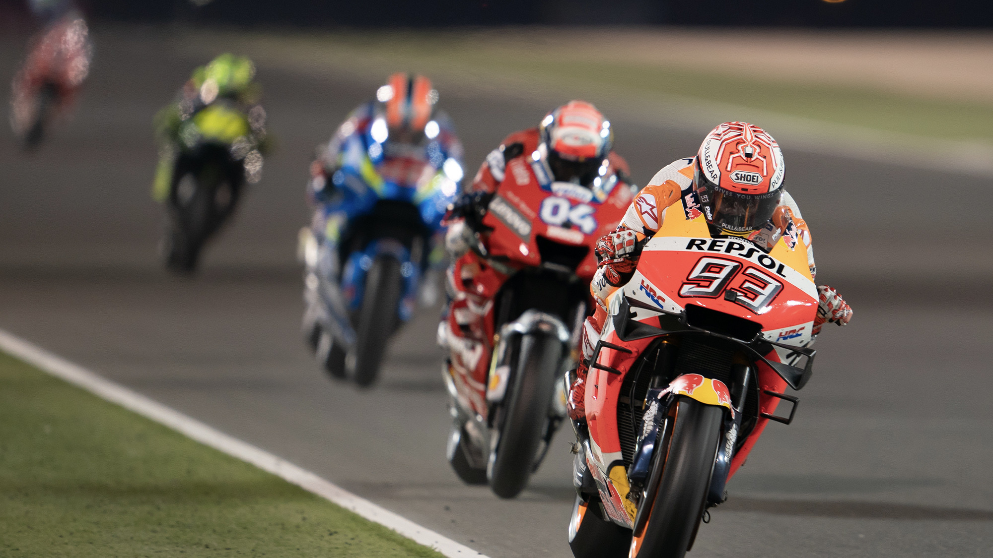 Marc Marquez leading the pack