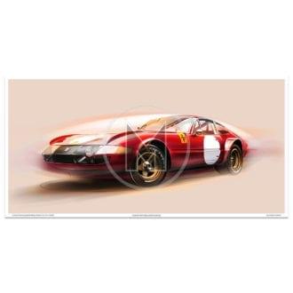 Product image for Ferrari 365 GTB/4 Daytona Competizione - 1969 /1970   Frederic Dams   Art Print