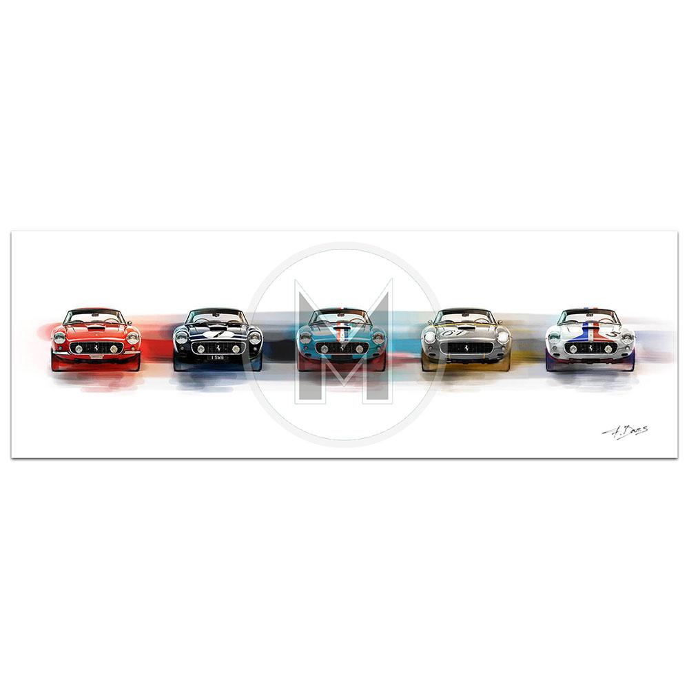 Product image for La Bella Cinque | Ferrari 250 SWB | Frederic Dams | Art Print