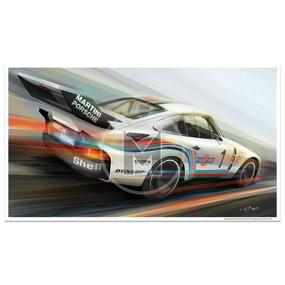 Product image for Martini Racing Porsche 935 | Frederic Dams | Art Print