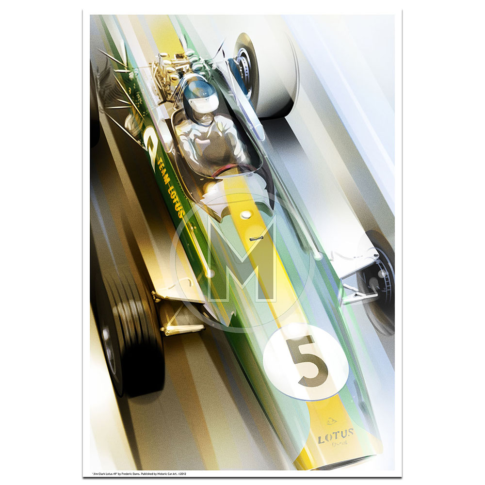 Product image for Jim Clark Lotus 49 | Frederic Dams | Art Print