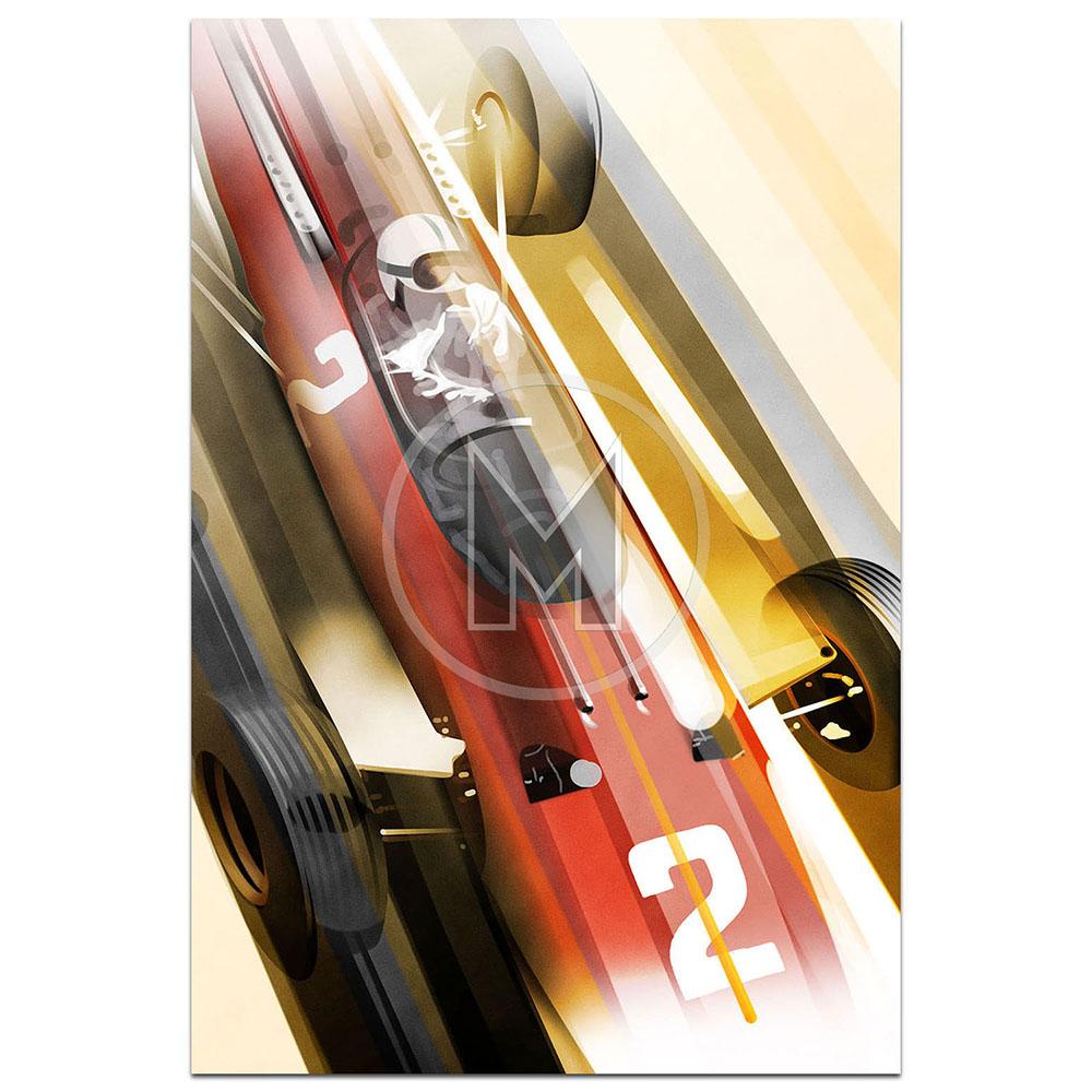 Product image for John Surtees Ferrari 512 F1 | Frederic Dams | Art Print