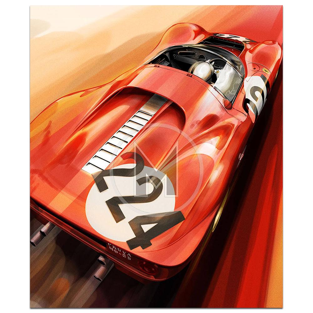 Product image for Ferrari 330 P4 | Frederic Dams | Art Print