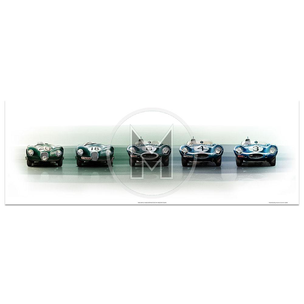 Product image for Jaguar Le Mans Domination | C-Type | D-Type | Frederic Dams | Art Print