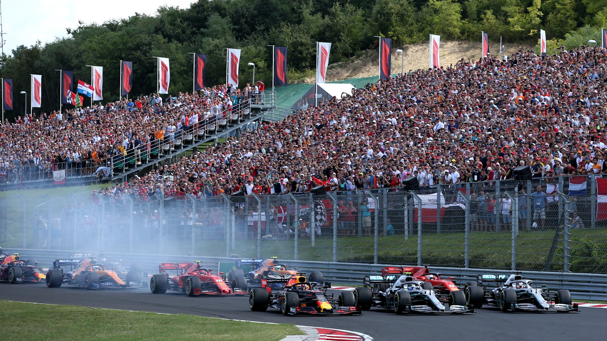 Start of the 2019 Hungarian GP