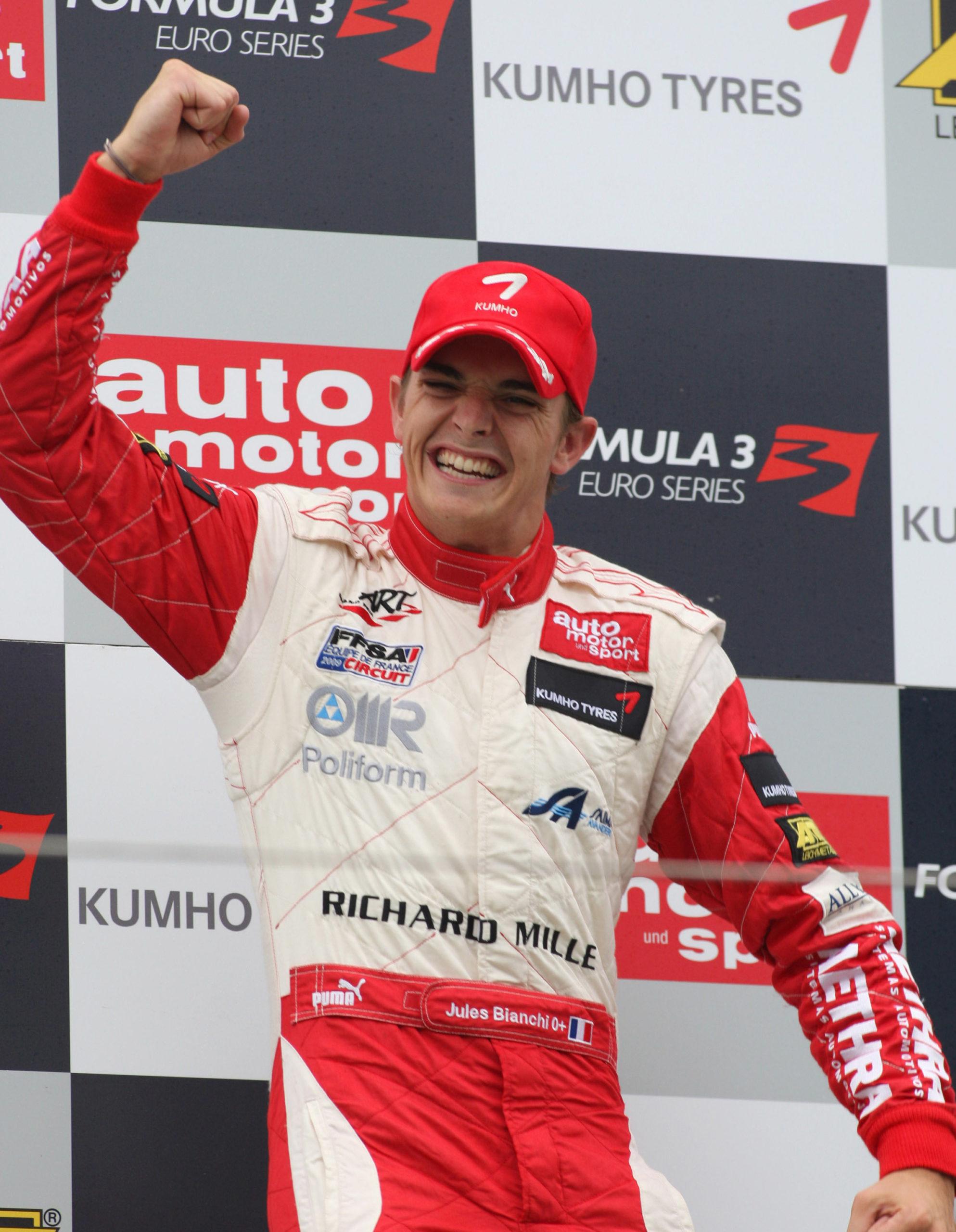 Jules-Bianchi-celbrates-on-the-podium-at-Zandvoort-after-a-European-Formula-3-race