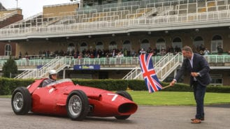 Stirling Moss's 1955 British Grand Prix victory celebrated at Aintree