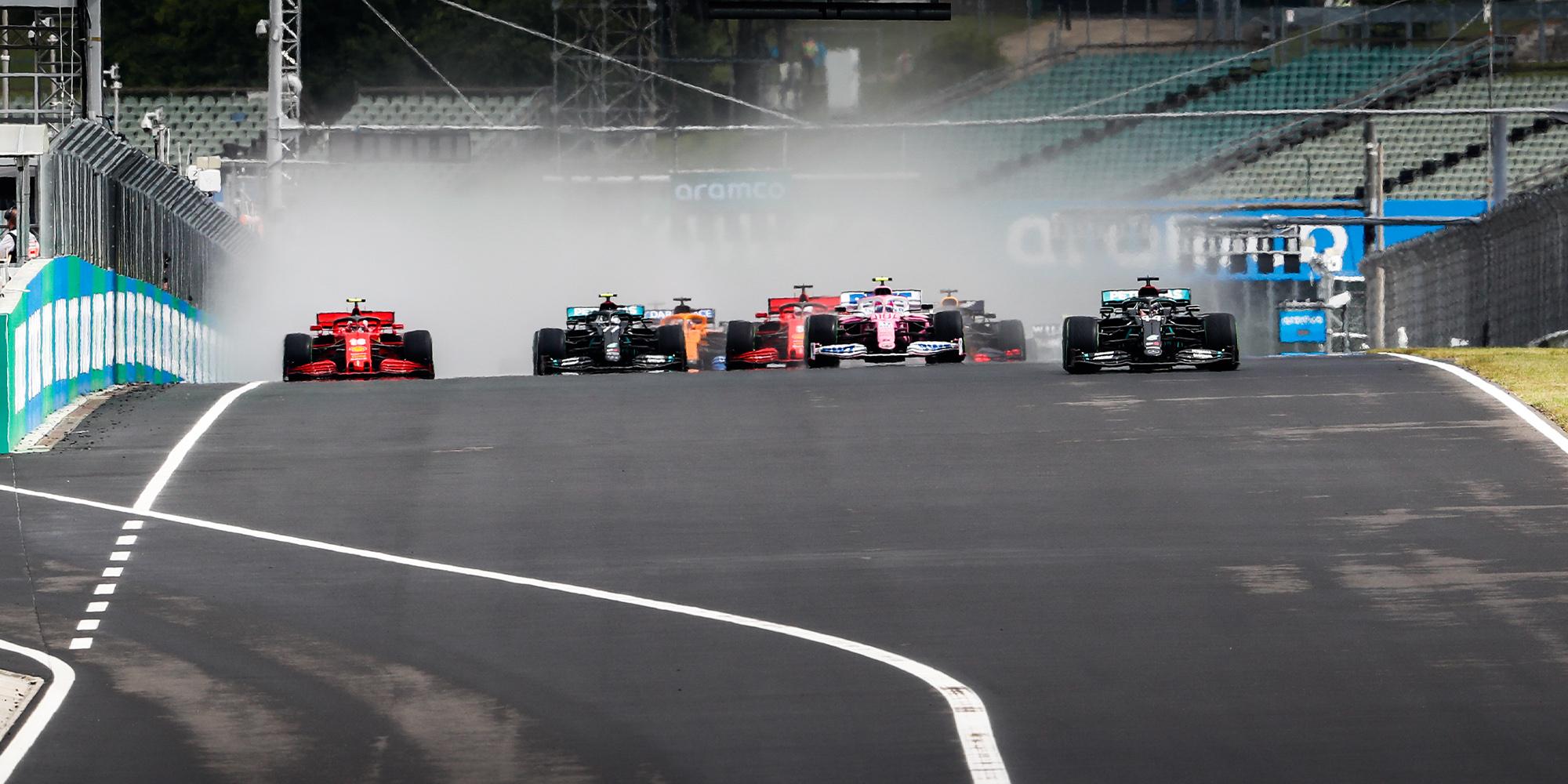 2020 F1 Hungarian Grand Prix start