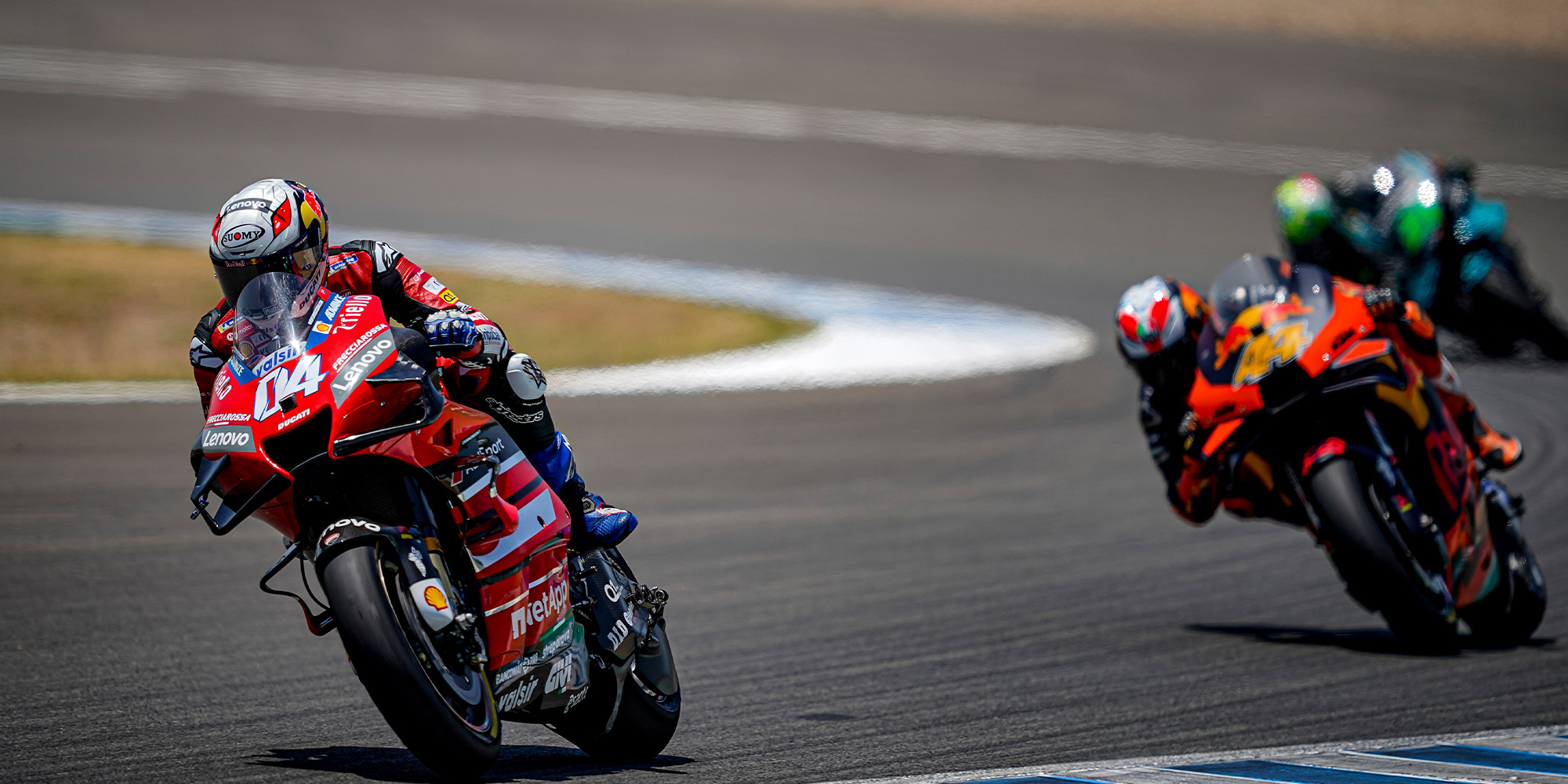 Andrea Dovozioso on his Ducati GP 20 during the 2020 MotoGP Spanish Grand Prix at Jerez