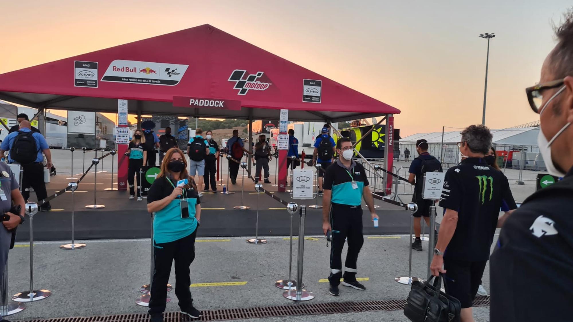 2020 MotoGP paddock