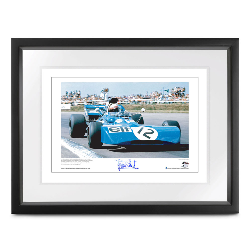 Product image for Jackie Stewart - Tyrrell 003 - 1971 |  lithographic print | signed Sir Jackie Stewart
