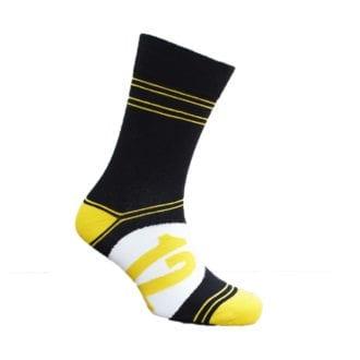 Product image for Black and Gold - JPS Lotus | Motoring Leg-Ends | Socks