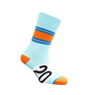 Product image for Racing Blue and Orange - Gulf | Motoring Leg-Ends | Socks