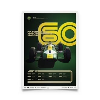 Product image for Formula 1® Decades | Jim Clark – Lotus 25 – 1960s | Limited Edition poster