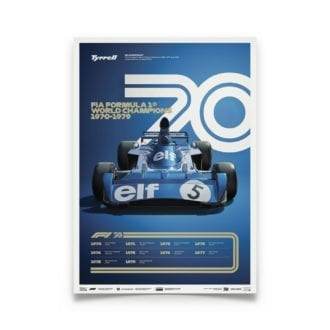 Product image for Formula 1® Decades |Jackie Stewart - Tyrell 006 - 1970s | Limited Edition poster
