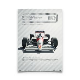 Product image for Formula 1® Decades | Ayrton Senna – McLaren MP4/4 – 1980s | Automobilist | Collector's Edition poster