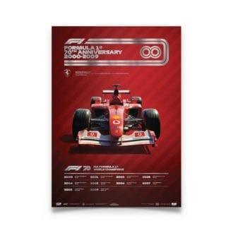 Product image for Formula 1® Decades | Michael Schumacher – Ferrari F2002 – 2000s | Automobilist | Collector's Edition poster