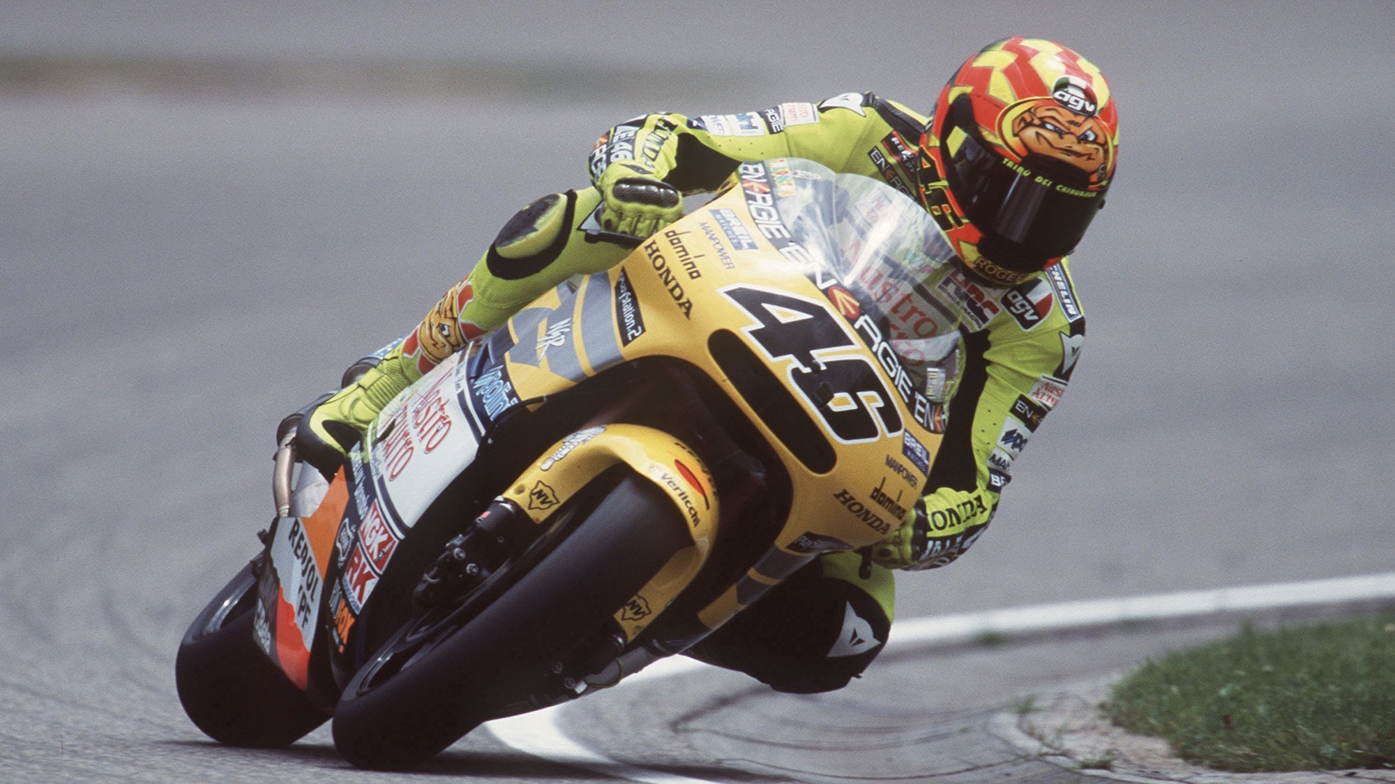 Valentino Rossi in the 2001 German Motorcycle Grand Prix