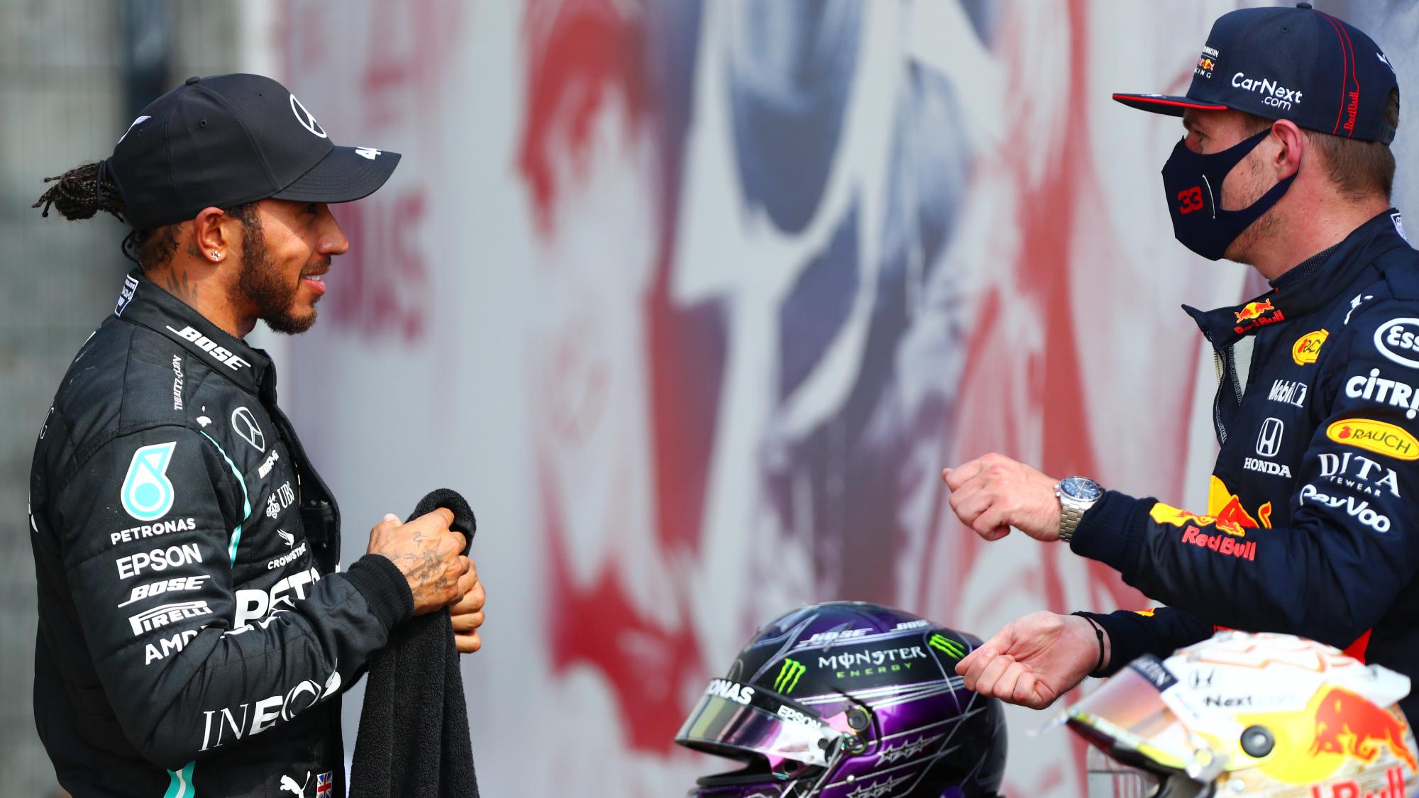 Lewis Hamilton, Max Verstappen, Silverstone II 2020