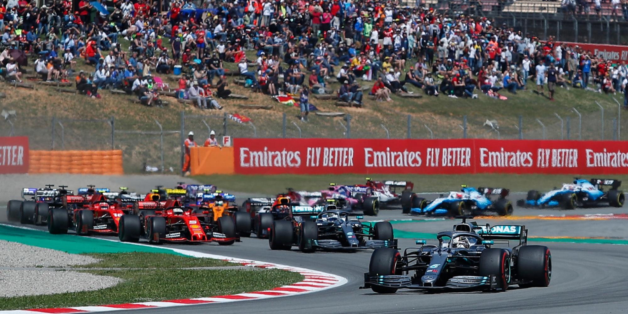 Start of the 2019 Spanish GP