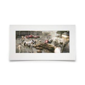 "Product image for The ""Rainmaster"" Reigns   Rudolf Caracciola - Mercedes - 1936   Automobilist   Artwork"