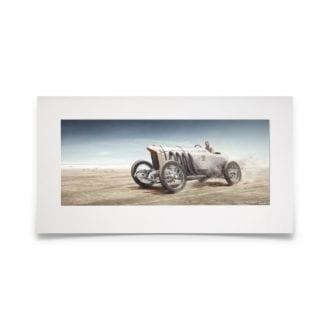 Product image for Blitzen Benz   Bob Burman - Daytona - 1938   Fine Art