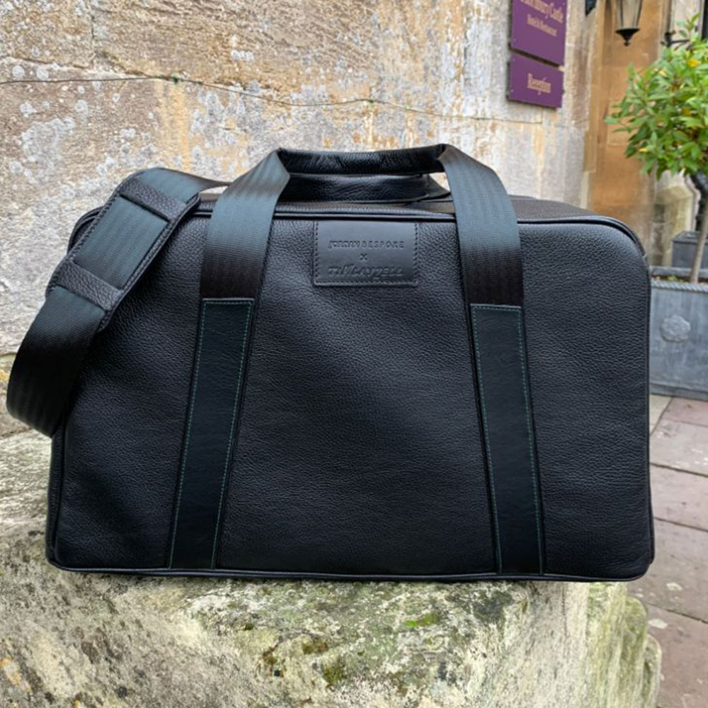 Product image for 'Leather Art' Duffle Bag | Black | Stirling Moss - 1959 | Jordan Bespoke