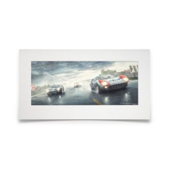Product image for Fords And The Furious   Ford GT40 - Le Mans 24 Hours - 1966   Fine Art