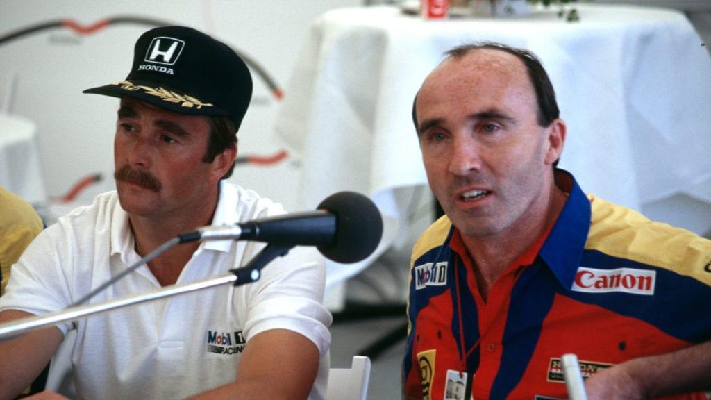 Frank Williams, Nigel Mansell 1987 German GP