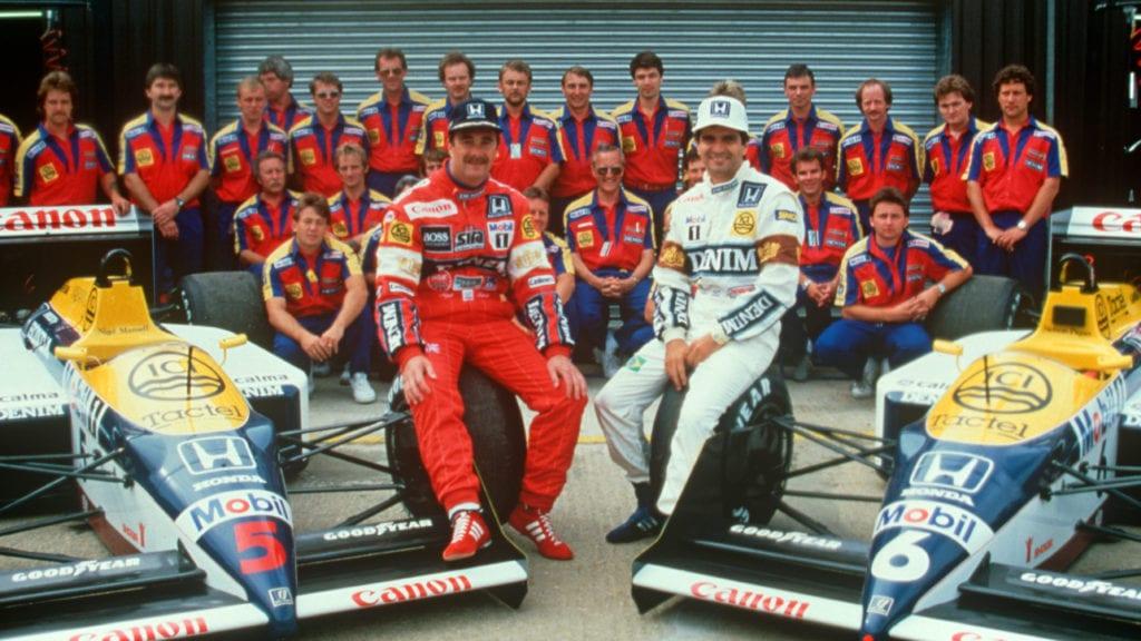 The Williams team in 1987
