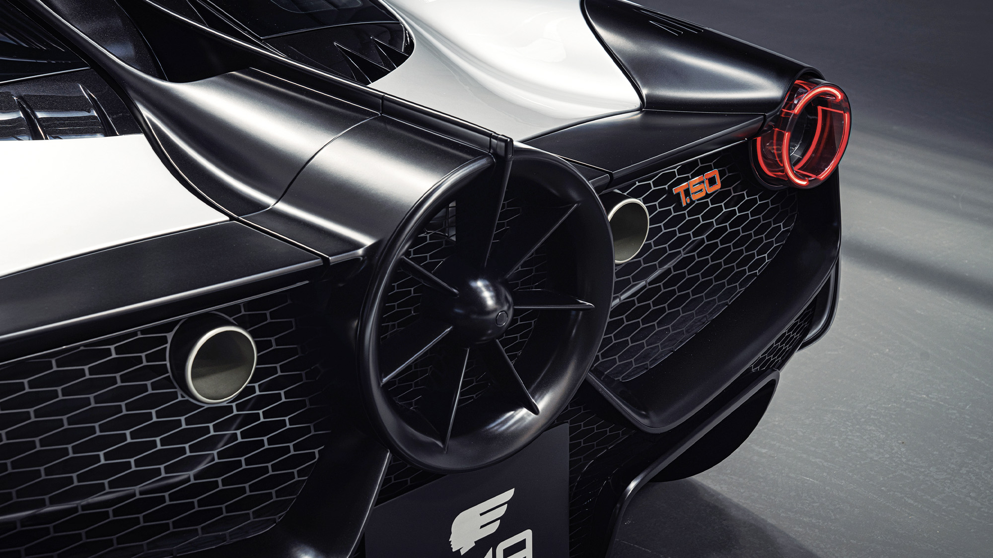 Fan cover at the back of the Gordon Murray Automotive T 50 supercar