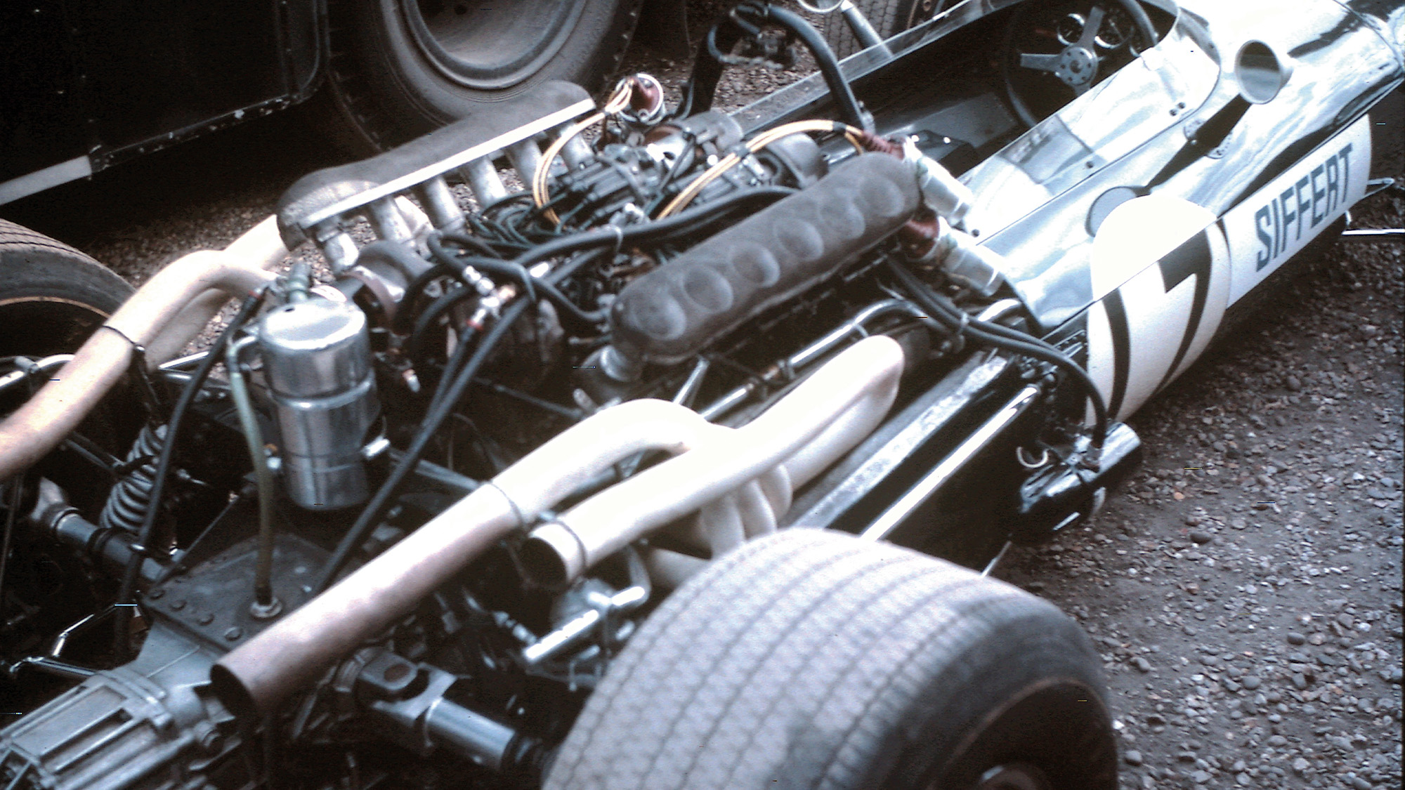 Jo Siffert's Cooper-Maserati at Silverstone in 1967