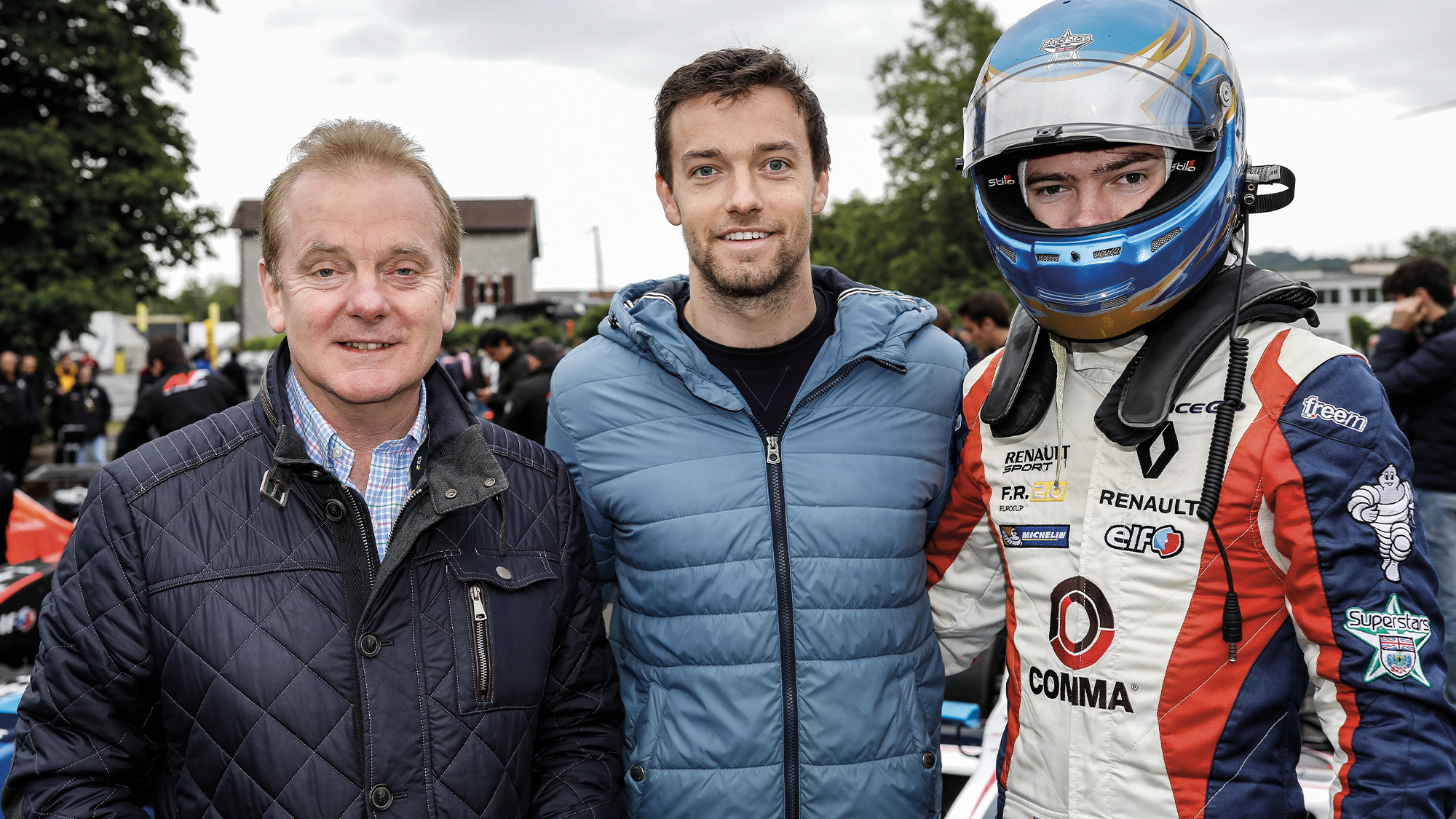 Jonathan Palmer with his sons Jolyon and Will