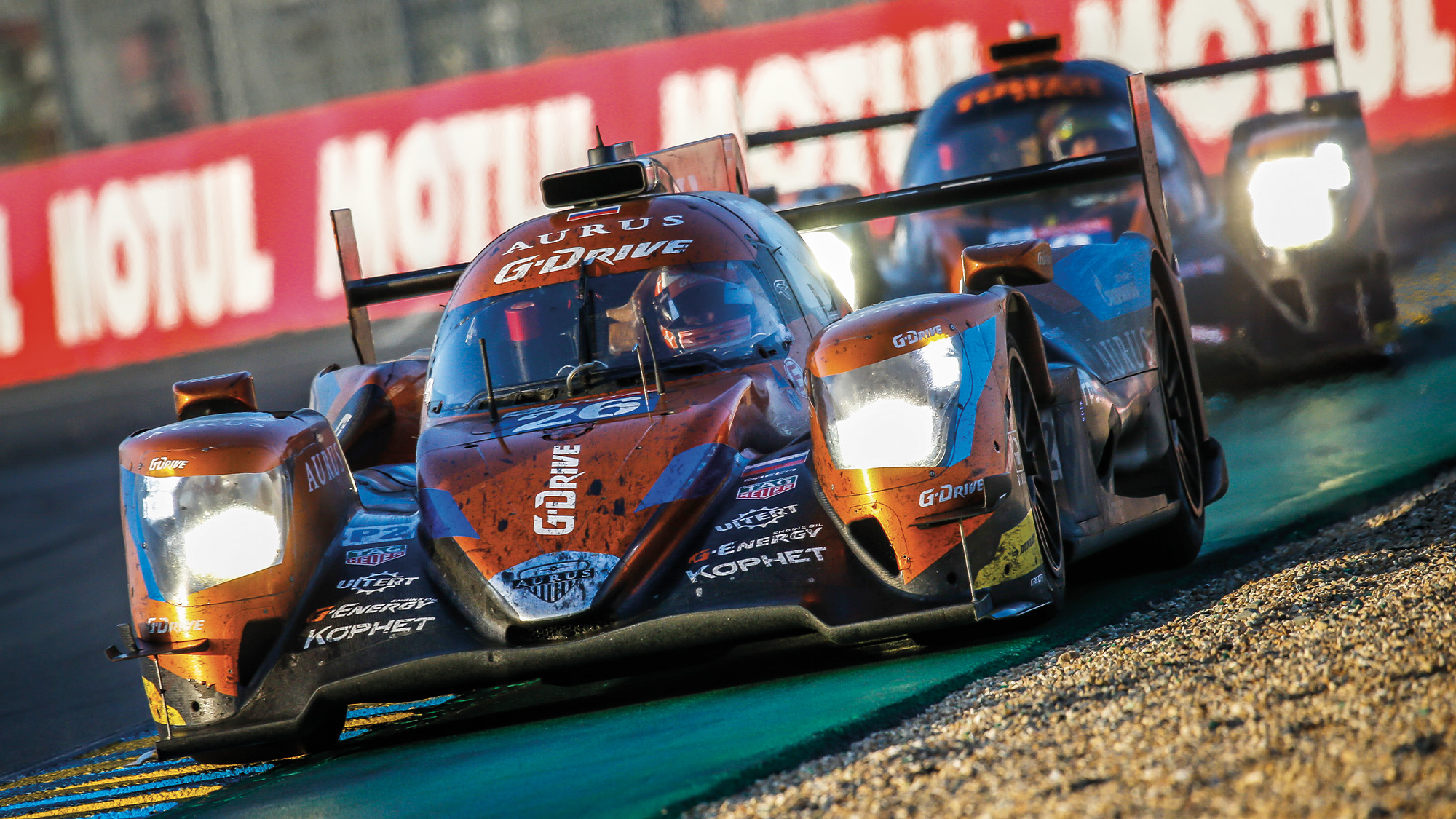 LMP2 cars at the Le Mans 24 Hours