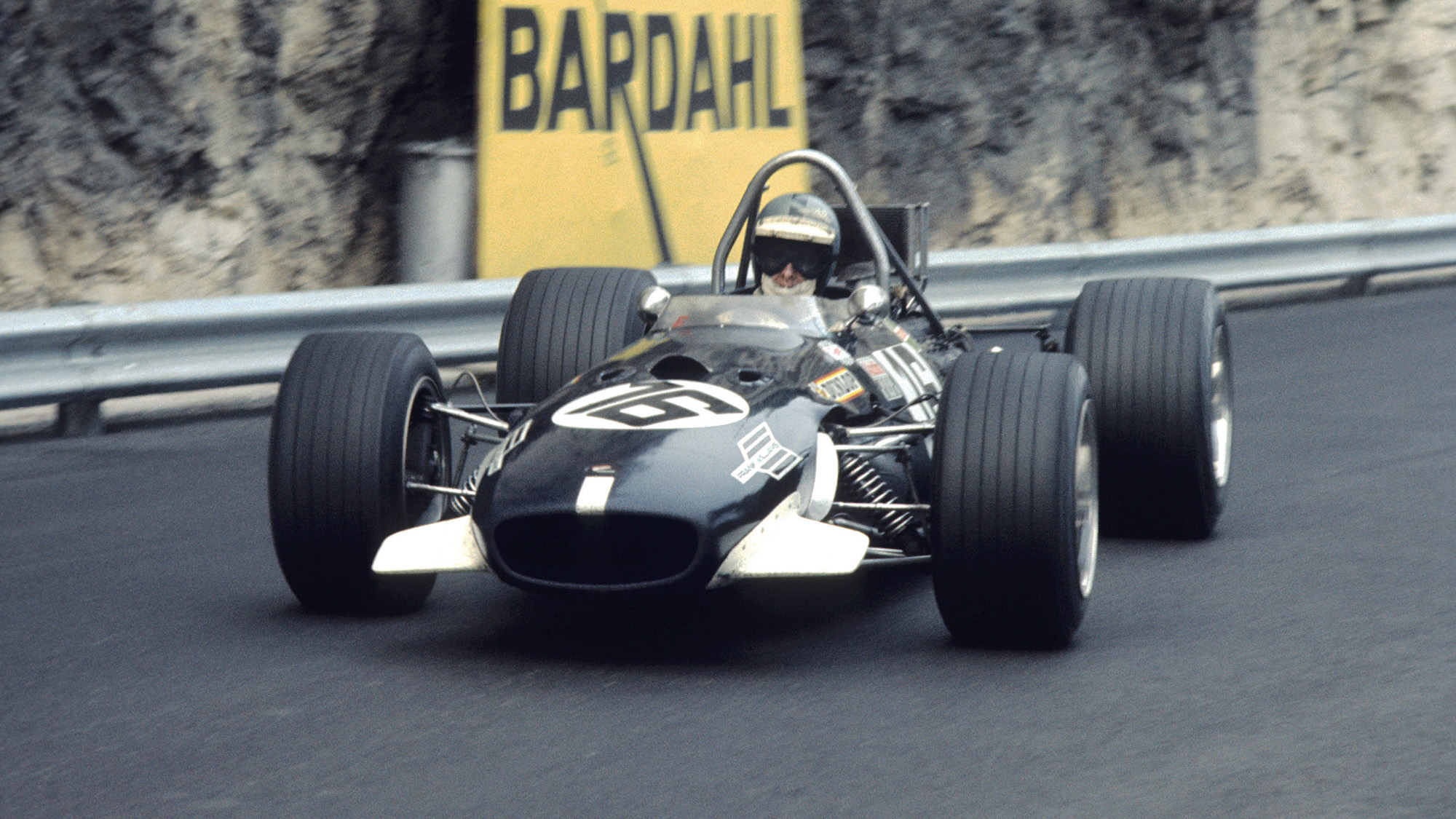 Piers Courage driving a Brabham BT26A in the 1969 Formula 1 Monaco Grand Prix
