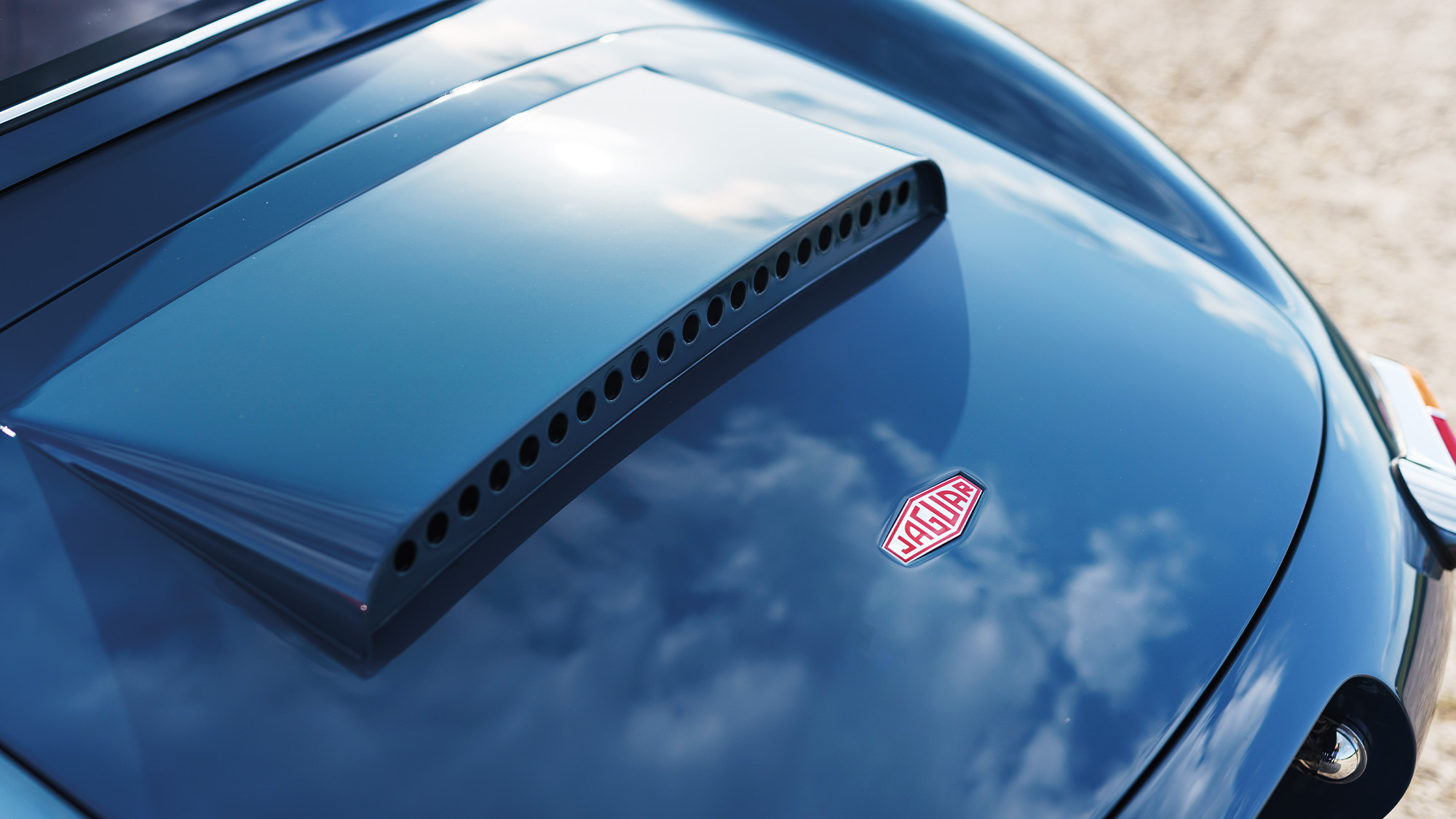 Rear boot lid of the 2020 Eagle E-type Lightweight GT