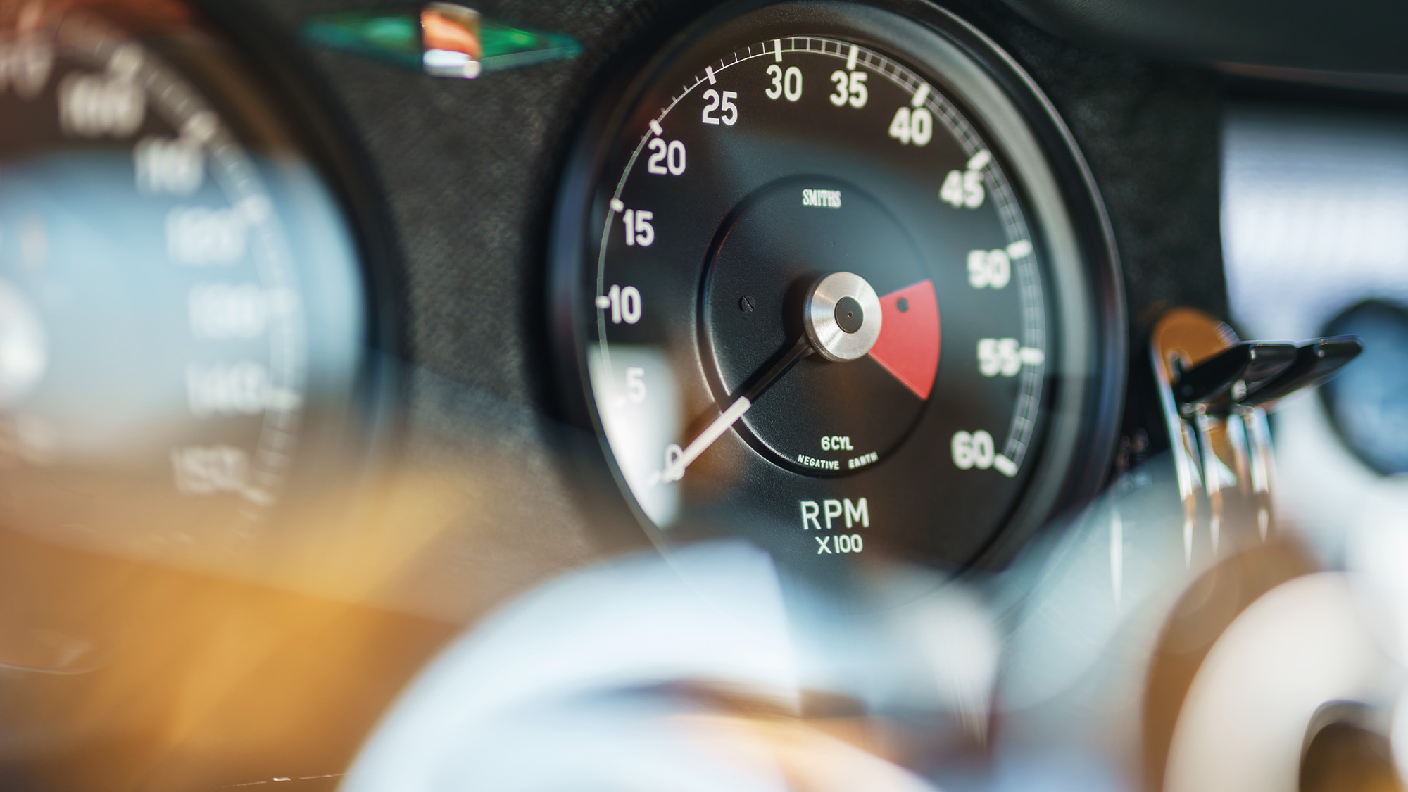 Speedometer of the 2020 Eagle E-type Lightweight GT