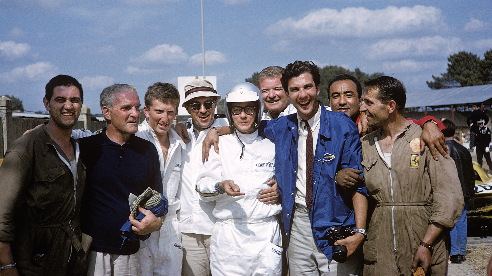The team behind the 1965 Le Mans winners including Jochen Rindt and Masten Gregory
